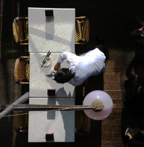 Photograph - Waiter From Above by David Chasey