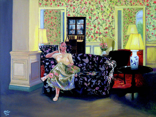 Wall Art - Painting - Waiting At The Gideon Putnam Hotel by James Gallagher