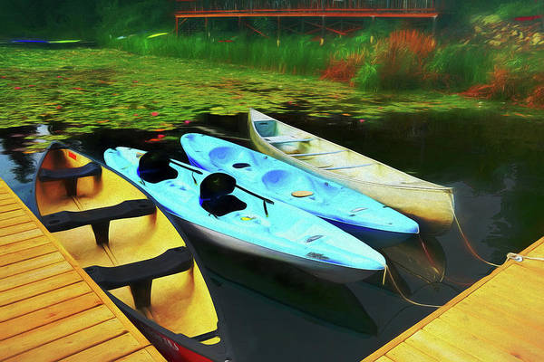 Photograph - Moored Canoes And Kayaks  by Ola Allen