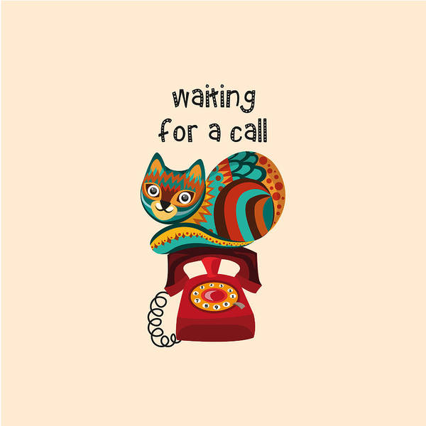 Wall Art - Digital Art - Waiting For A Call by Veronica Kusjen