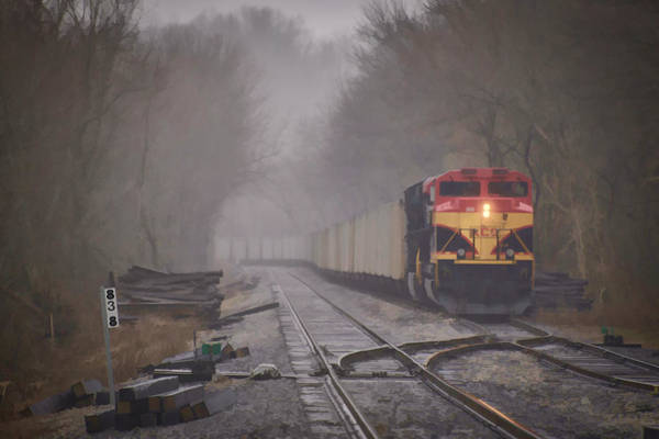 Norfolk Southern Wall Art - Photograph - Waiting For A Crew by Jim Pearson
