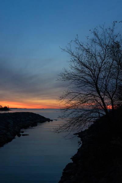 Wall Art - Photograph - Waiting For Dawn - Lakeside Blues And Oranges by Georgia Mizuleva