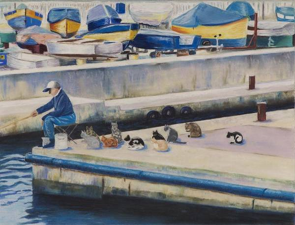 Painting - Waiting For Dinner by Deborah Brown Maher