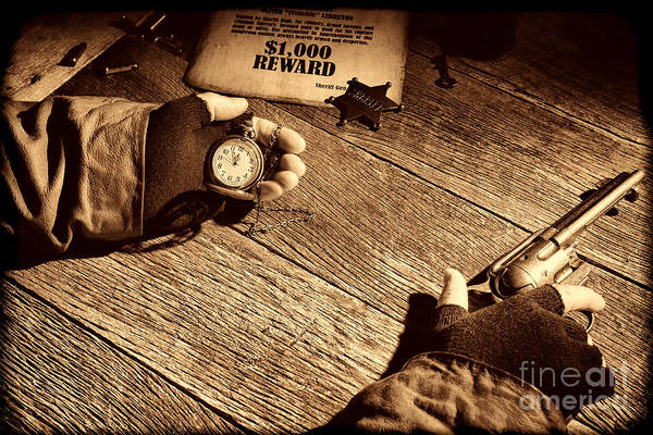 Photograph - Waiting For High Noon by American West Legend By Olivier Le Queinec