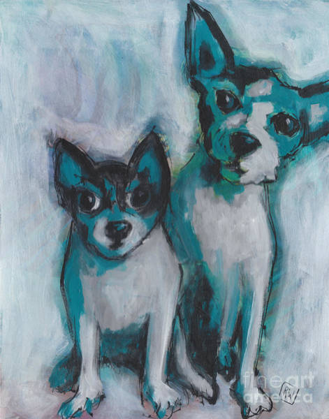 Wall Art - Painting - Waiting For Playtime by Robin Wiesneth