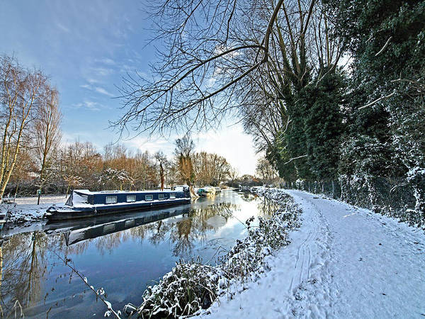 Houseboat Photograph - Waiting For Spring by Gill Billington