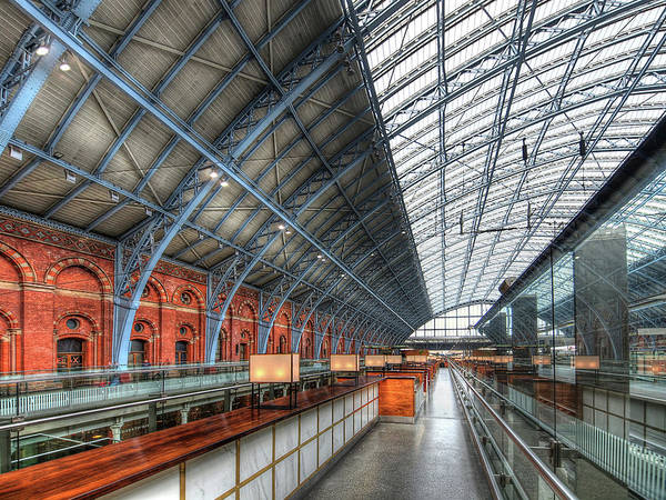 Photograph - Waiting For The Bar To Open - St Pancras Station by Gill Billington