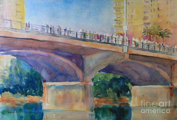 Central Texas Painting - Waiting For The Bats by Marsha Reeves