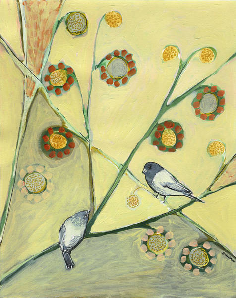 Songbird Painting - Waiting For The Dance Of Spring by Jennifer Lommers