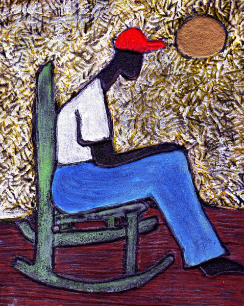 Rocking Chairs Painting - Waiting For The Dream by Wayne Potrafka