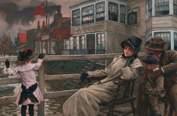 Painting - Waiting For The Ferry by James Tissot