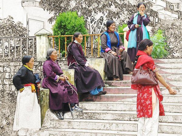Digital Art - Waiting For The Karmappa Lama by Karla Beatty