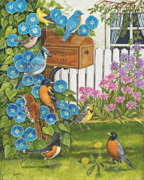 Meadowlark Painting - Waiting For The Mail by Sandy Williams