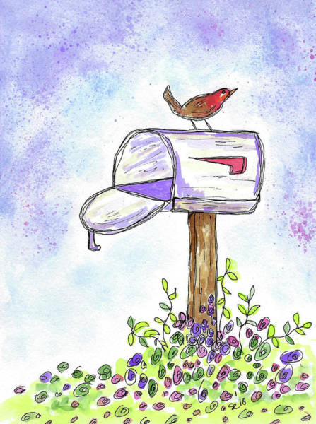 Painting - Waiting For The Mail by Susan Campbell