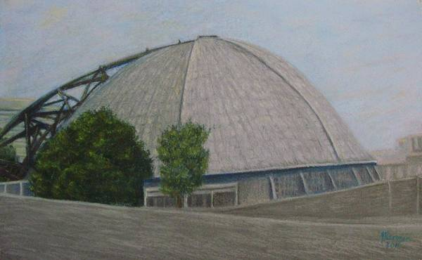 Wall Art - Pastel - Waiting For The Next Event Mellon Arena Pittsburgh by Joann Renner
