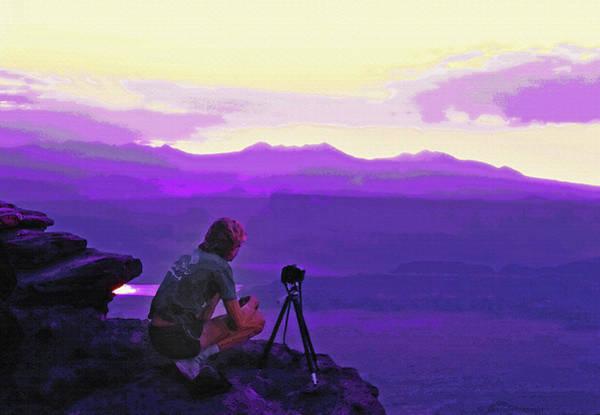 Posterize Photograph - Waiting For The Sunrise - Dead Horse Point Utah by Steve Ohlsen