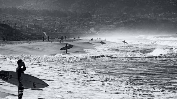 Photograph - Waiting For The Surf By Mike-hope by Michael Hope