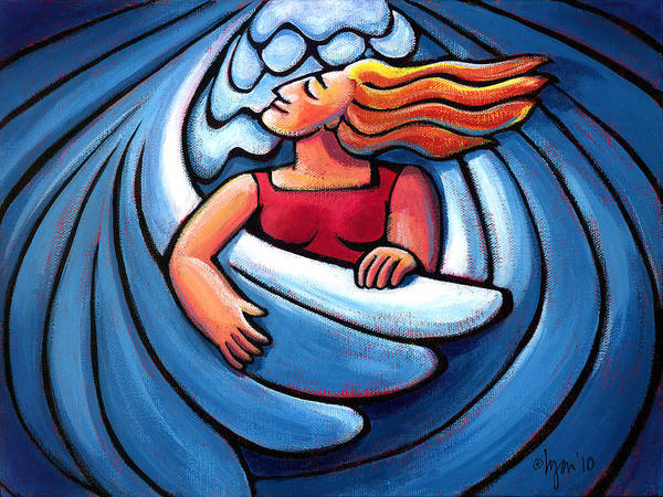 Divine Love Wall Art - Painting - Waiting In The Wings by Angela Treat Lyon