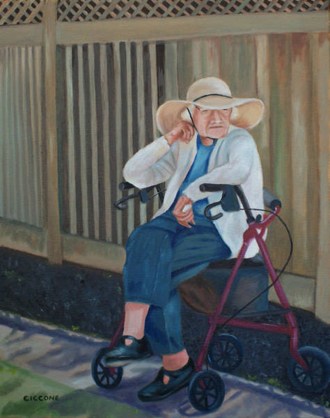 Painting - Waiting by Jill Ciccone Pike