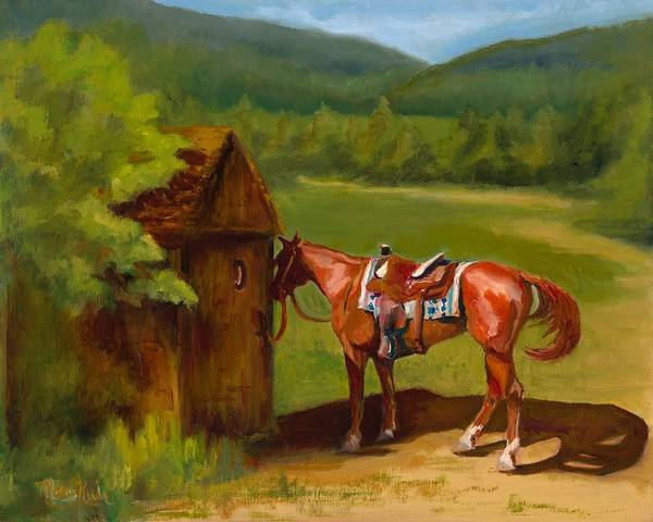 Flagstaff Painting - Waiting  by Mary Kuhr