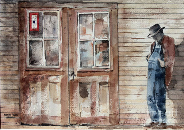 Painting - Waiting by Monte Toon