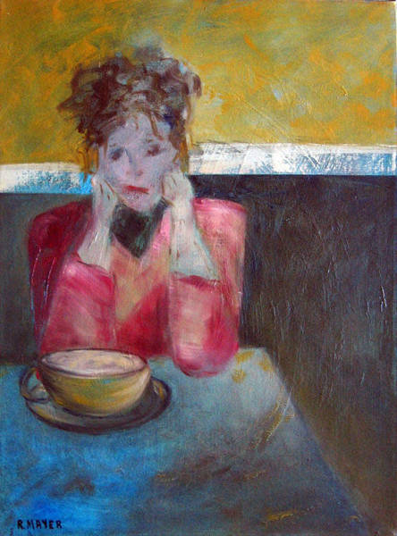 Lady In Waiting Painting - Waiting by Rochelle Mayer
