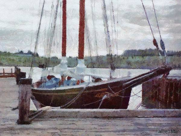Painting - Waiting To Sail by Jeffrey Kolker