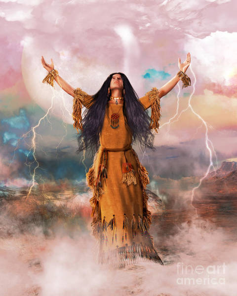 Spirit Digital Art - Wakan Tanka The Great Spirit by Shanina Conway