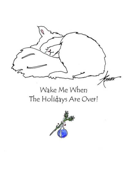 Painting - Wake Me When The Holidays Are Over  by Adele Bower