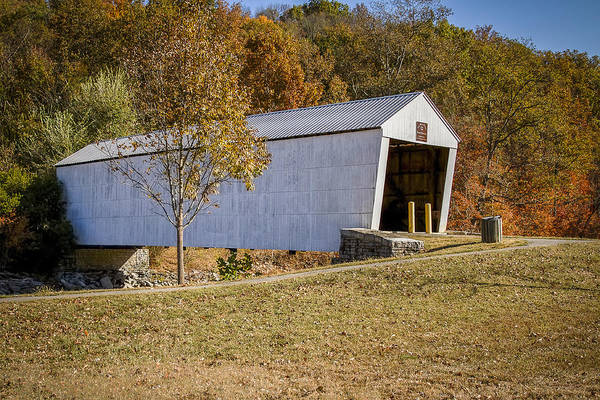 Photograph - Walcott Or White Covered Bridge by Jack R Perry