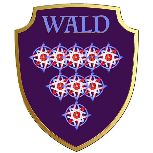 Painting - Wald Family Crest by Ahonu
