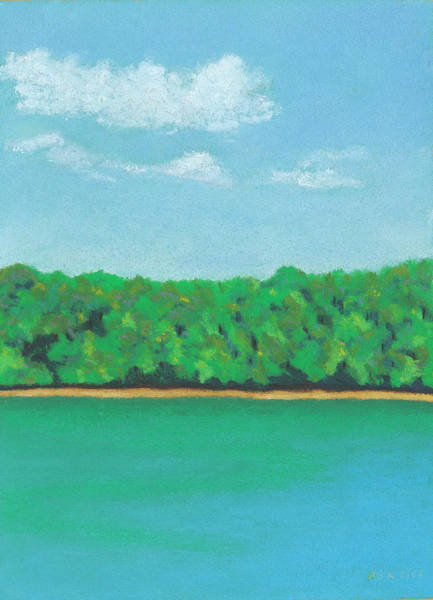 Pastel - Walden Pond by Anne Katzeff