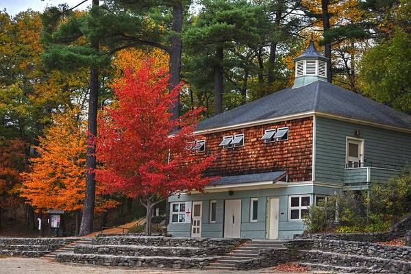 Photograph - Walden Pond Bath House Concord Ma by Toby McGuire