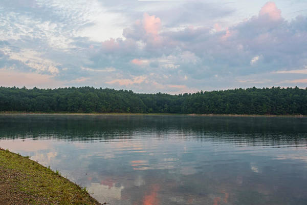 Photograph - Walden Pond Morning Light Concord Ma Red Clouds by Toby McGuire