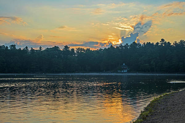 Photograph - Walden Pond Sunrise Concord Ma by Toby McGuire