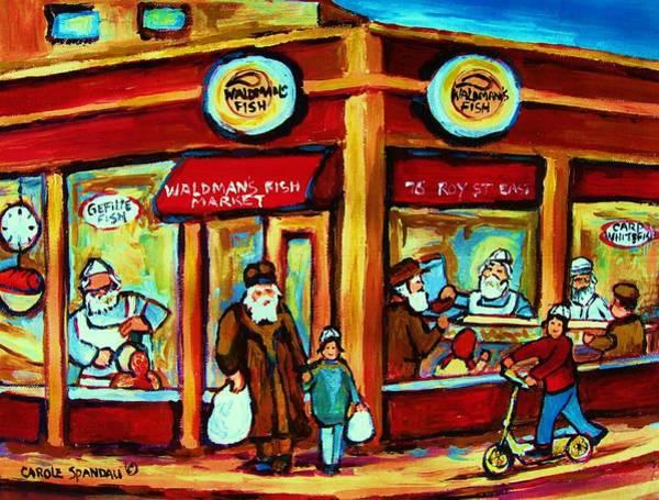 Painting - Waldmans In Montreal by Carole Spandau