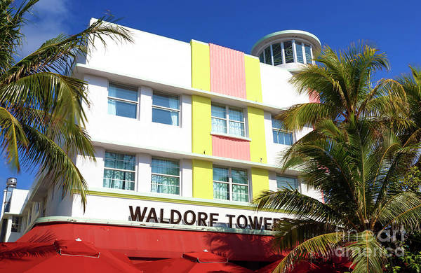 Oceanfront Photograph - Waldorf Towers South Beach by John Rizzuto