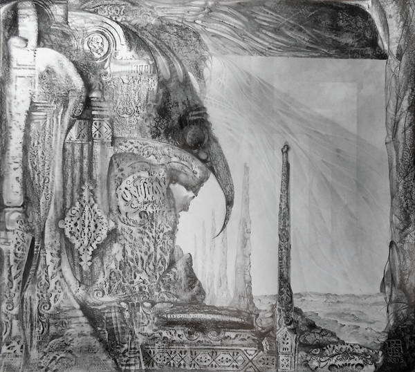 Drawing - Waldrapp's Tomb by Otto Rapp