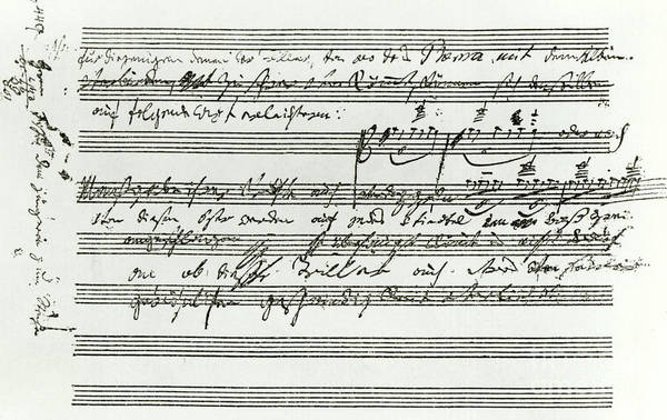 Wall Art - Drawing - Waldstein Sonata By Beethoven by Ludwig van Beethoven