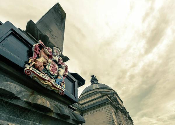 Photograph - Wales Coat Of Arms On Obelisk A by Jacek Wojnarowski