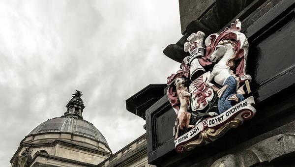 Photograph - Wales Coat Of Arms On Obelisk B by Jacek Wojnarowski