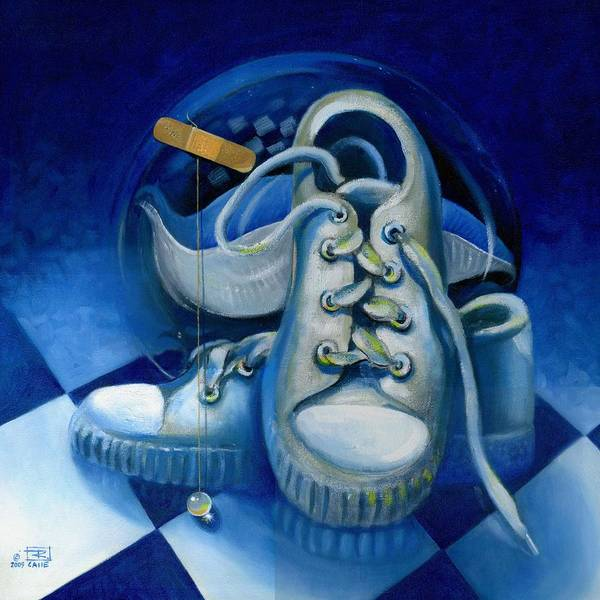 Sneakers Painting - Walk For Health by Roger Calle