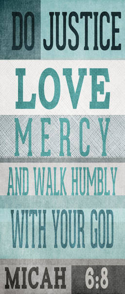Walk Humbly- Tall Version Art Print
