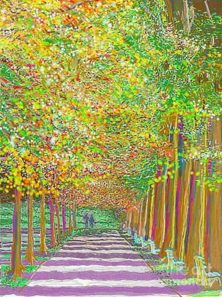 Painting - Walk In Park Cathedral by Hidden Mountain