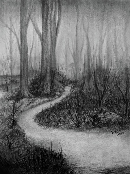 Mat Drawing - Walk In The Woods by Laura Teti