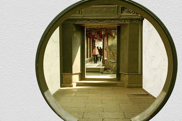 Photograph - Walk Into The Light - Yuyuan Garden Shanghai China by Christine Till