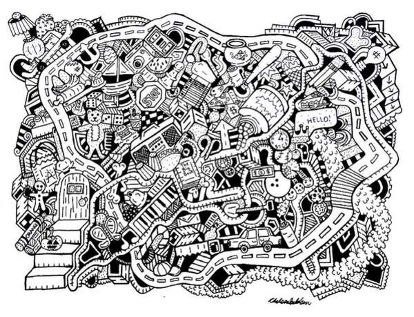 Wall Art - Drawing - Walk Off by Chelsea Geldean