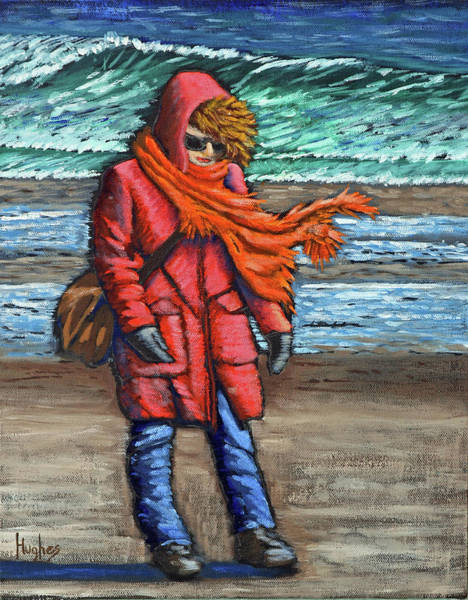 Painting - Walk On Beach by Kevin Hughes