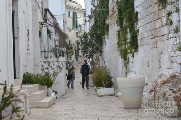 Wall Art - Photograph - Walk On Ostuni Street by Meeli Sonn
