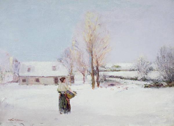 Winter Walk Painting - Walk Through The Snow by Walter McAdam